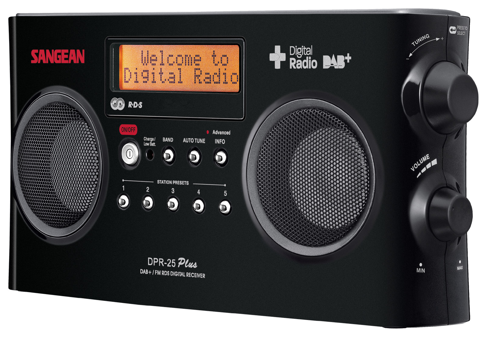 sangean dpr 25 dab fm rds digital radio stereo receiver. Black Bedroom Furniture Sets. Home Design Ideas