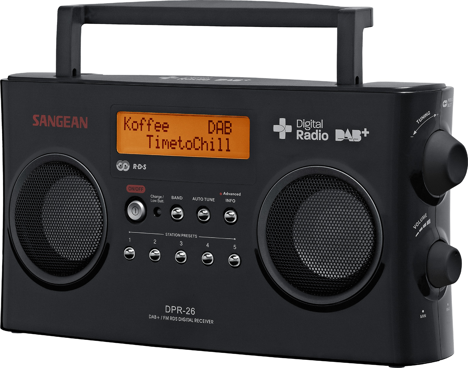 sangean dpr 26 dab fm rds digital radio stereo receiver. Black Bedroom Furniture Sets. Home Design Ideas